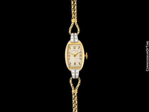 1940's Tiffany & Co. Ladies Vintage Watch - 14K Gold with Diamonds