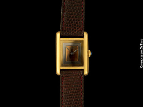 Cartier Vintage Ladies Tank Mechanical Trinity Dial Watch - Gold Vermeil, 18K Gold over Sterling Silver