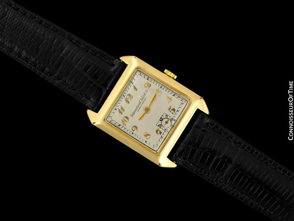 1926 IWC Vintage Mens Art Deco Breguet Numeral Watch - 14K Gold