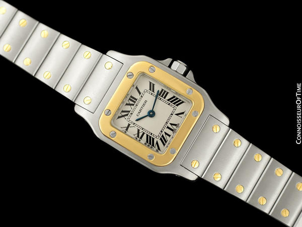 Cartier Ladies Santos Galbee Two-Tone Watch - Stainless Steel & 18K Gold