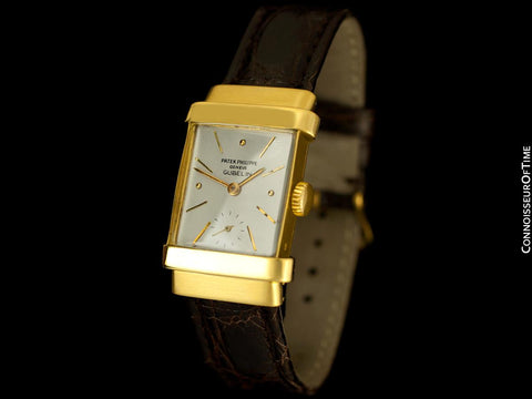 "1948 Patek Philippe Vintage Mens Ref. 1450 ""Top Hat"" Watch - 18K Gold with Papers"