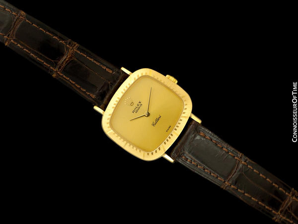 1987 Rolex Cellini Vintage Ladies 18K Gold TV Watch, Ref. 4082 - Original Papers