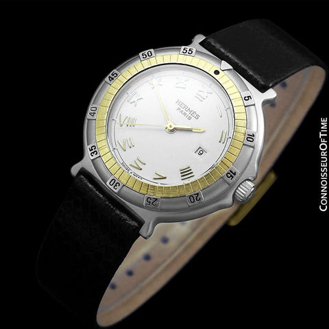 Hermes Ladies Captain Nemo Quartz Watch - Stainless Steel & 18K Gold