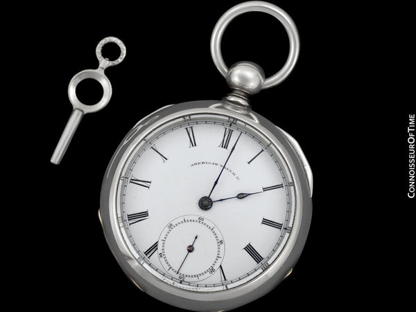 1865 American Watch Co. / Waltham Civil War 18 Size Pocket Watch - Same Model Given to Abraham Lincoln