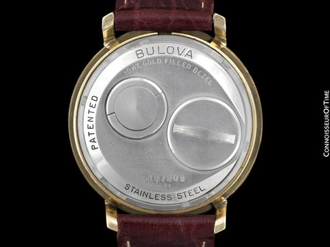1973 Bulova Spaceview Chapter Ring Vintage Mens Watch - 10K Gold Filled & Stainless Steel