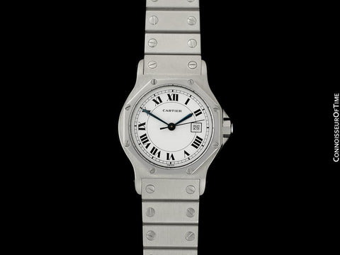 Cartier Santos Octagon Mens Unisex Watch, Automatic - Stainless Steel