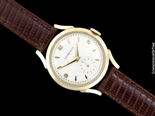 "1956 Tiffany & Co. ""Futuramic"" Mens Vintage Thin Automatic Watch - 14K Gold"