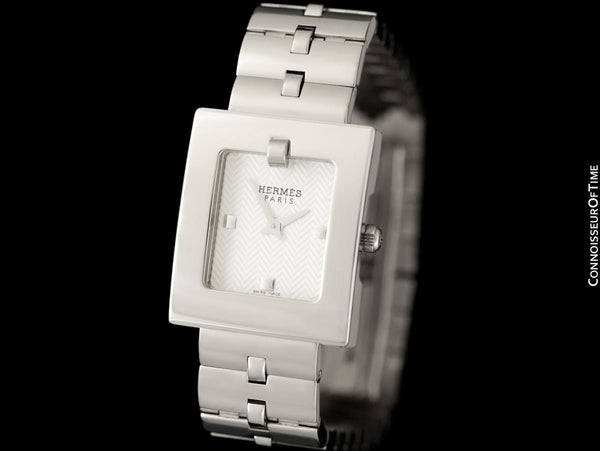 Hermes Belt Buckle Ladies Quartz Bracelet Watch - Stainless Steel