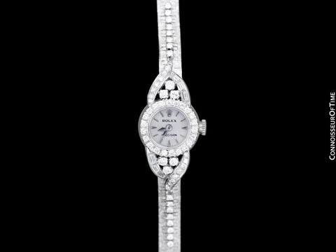 1966 Rolex Ladies Vintage Cocktail Watch - 18K White Gold & Diamonds