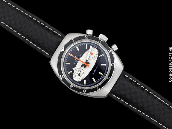 "1968 Breitling Sprint Vintage Pilots ""Surfboard Panda Dial"" Chronograph - Stainless Steel"