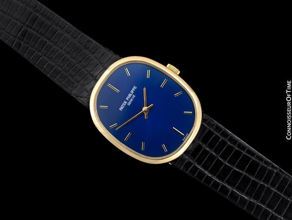 1970's Patek Philippe Ellipse Mens Watch, Ref. 3548 - 18K Gold