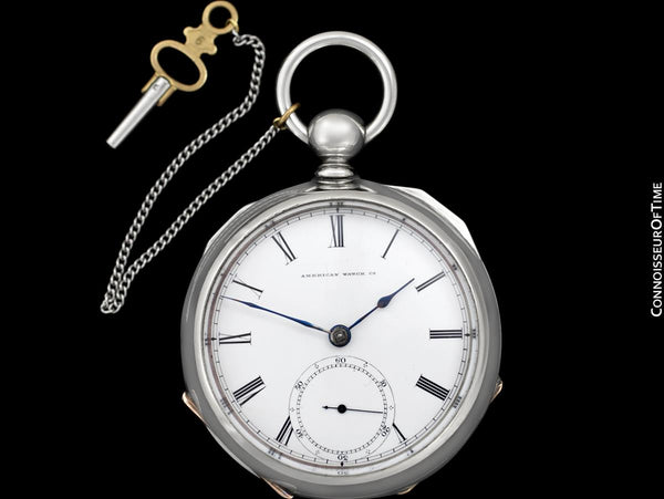1864 Waltham P.S. Bartlett Civil War 18 size Pocket Watch - Same Brand Given to Abraham Lincoln at Gettysburg