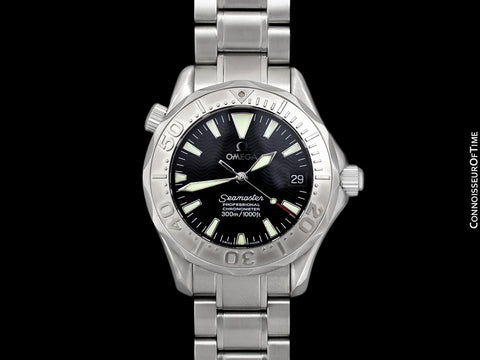 Omega Seamaster 300M Professional Diver Mens Midsize Automatic Chronometer Watch 2236.50 - Stainless Steel & 18K White Gold