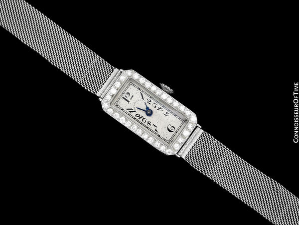 1920's Patek Philippe Tiffany & Co. Vintage Art Nouveau Ladies Watch - Platinum & Diamonds