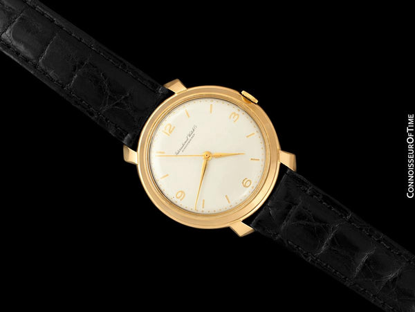 1963 Vintage IWC Mens Large Caliber 89 37mm Watch with Ribbon Lugs - 18K Rose Gold