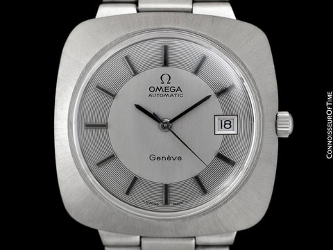 1970's Omega Dynamic Vintage Mens Large 39mm Cal. 565 Watch with Quick-Setting Date - Stainless Steel