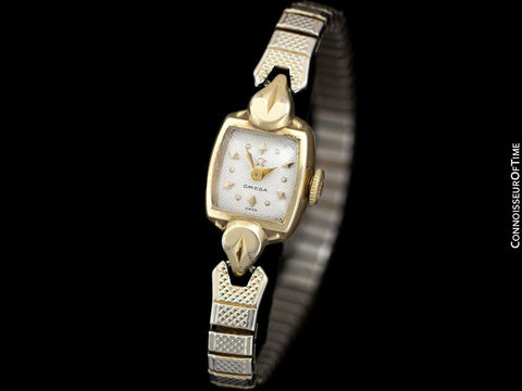 1955 Omega Vintage Ladies Gold Plated Watch - Owned and Worn by Actress Loretta Young