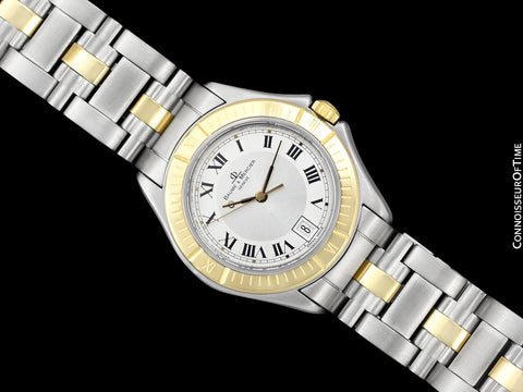 Baume & Mercier Malibu Mens Unisex Two-Tone Silver Dial Watch - Stainless Steel and Solid 18K Gold
