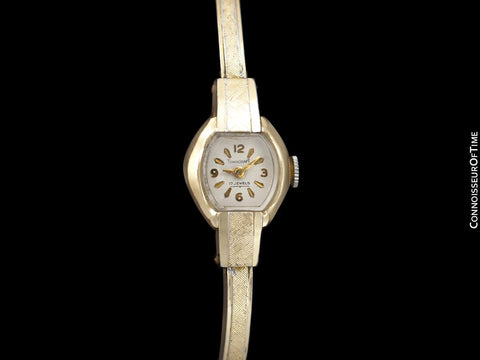 1960's Swiss Vintage Ladies Gold Plated Watch - Owned & Worn by Actress Loretta Young