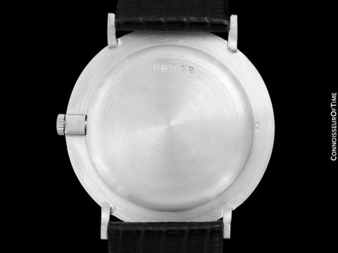 1960's Audemars Piguet Vintage Mens Full Size Thin Dress Watch with Clous de Paris Bezel - 18K White Gold