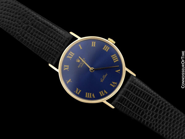 1974 Rolex Cellini Vintage Mens Midsize Handwound Watch, Ref. 3833 - 18K Gold