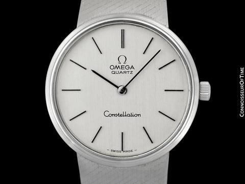 1976 Omega Constellation Vintage Mens Accuset Quartz Bracelet Watch - Stainless Steel