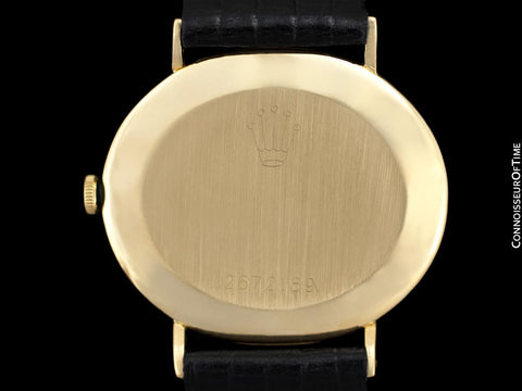1971 Rolex Cellini Vintage Mens Midsize Handwound Watch, Ref. 4083 - 18K Gold