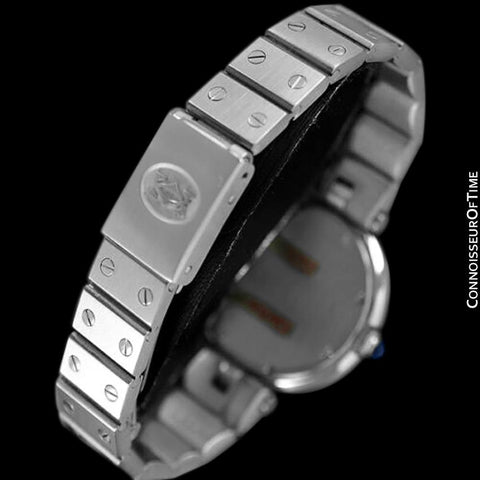 Cartier Santos Vendome Ladies Quartz Bracelet Watch - Stainless Steel & Diamonds