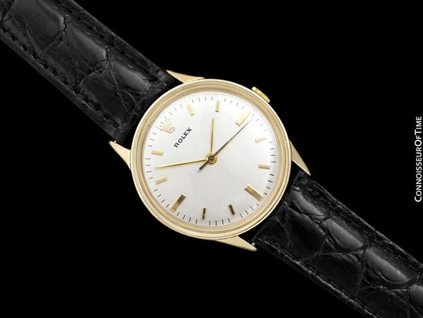 1950's Rolex Precision Vintage Mens Dress Watch - 14K Gold