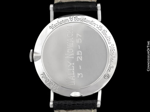 1957 Jaeger-LeCoultre / Vacheron & Constantin Vintage Galaxy Mystery Dial Watch - 14K White Gold & Diamonds
