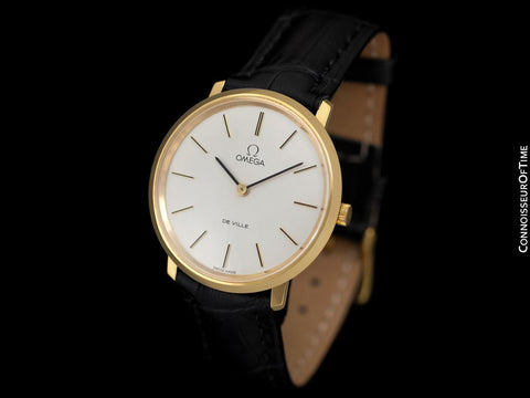 1974 Omega De Ville Vintage Mens Handwound Dress Watch - 18K Gold Plated & Stainless Steel