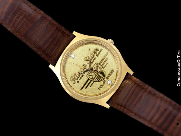 Wristwatch Gifted by Beatle's Drummer Ringo Starr for his 2003 All-Starr Band Tour - Gold Tone with Diamonds