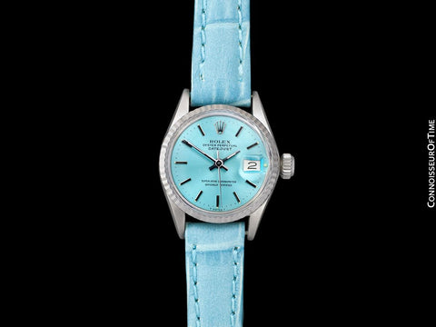 1969 Rolex Datejust (President) Ladies Vintage Watch with Tiffany Blue Dial - 18K White Gold