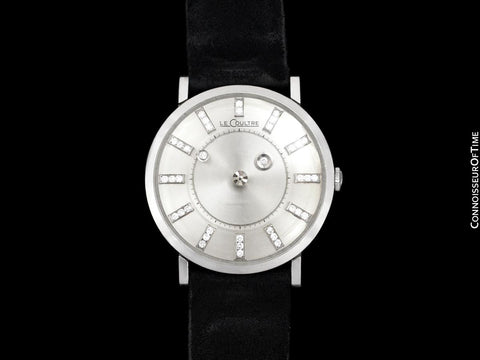 1964 Jaeger-LeCoultre Vintage Galaxy Mystery Dial Mens Watch - 14K White Gold & Diamonds