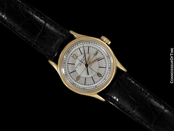1936 Patek Philippe Vintage Calatrava Ref. 96 Mens Watch, 18K Gold with Extract - Extremely Rare Sector Dial
