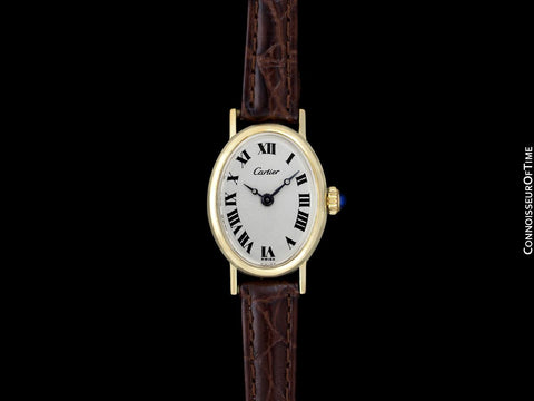 1960's Cartier Vintage Classic Ladies Handwound Watch - 14K Gold