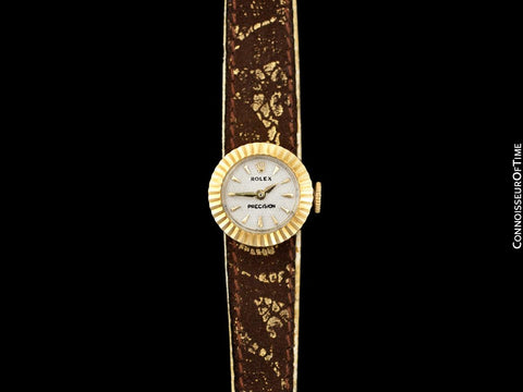 1950's Rolex Vintage Ladies 18K Gold Watch with Box & Interchangeable Straps - The Chameleon