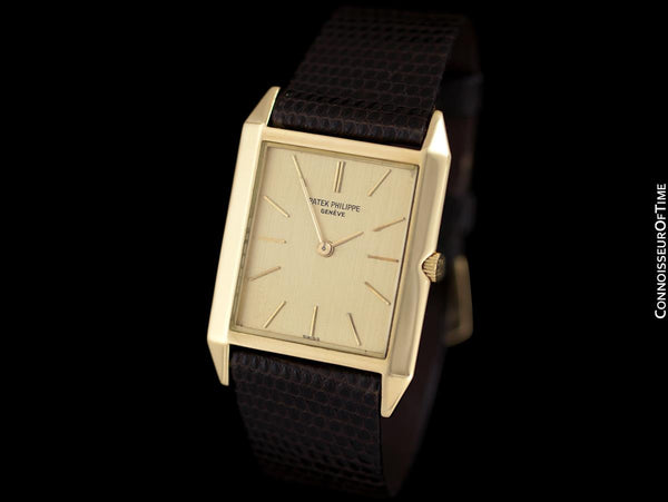 1964 Patek Philippe Vintage Mens Handwound Ultra Thin Watch, Ref. 3491 - 18K Gold with Papers