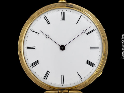 1860's Patek Philippe Antique Mens Midsize 42mm Hunter Case Pocket Watch - 18K Gold