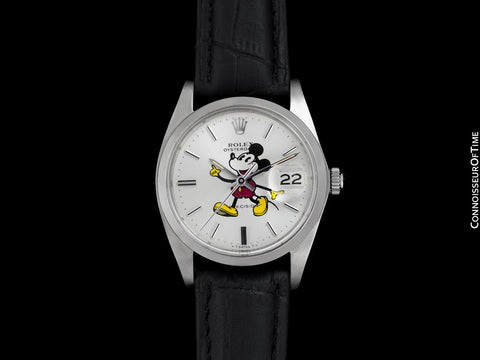 1978 Rolex Oysterdate Vintage Mens Mickey Mouse Dial Watch with Date - Stainless Steel