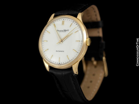 1961 IWC Vintage Mens Full Size Watch, Cal. 853 Automatic - 18K Gold