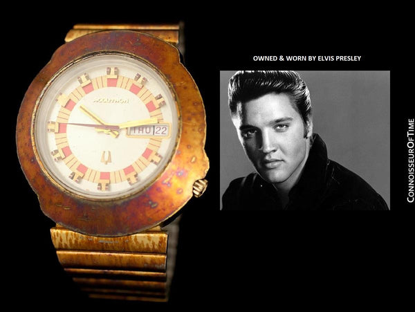 *OWNED & WORN BY ELVIS PRESLEY* - 1971 Bulova Accutron Vintage Mens Watch
