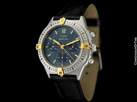 Breitling Callisto Mens Chronograph Watch, 80520D - Stainless Steel & 18K Gold