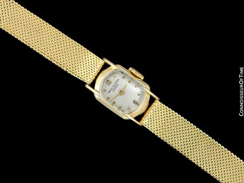 c. 1955 Patek Philippe Vintage Ladies Ref. 3100 Watch with Bracelet - 18K Gold