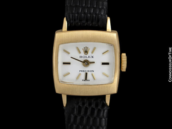 "1974 Rolex Precision Pre-Cellini Vintage Ladies ""TV"" Shaped Watch, Ref. 2629 - 18K Gold"