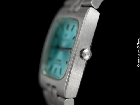 c. 1970 Omega Constellation Mens Automatic Chronometer Watch with Tiffany Blue Dial - Stainless Steel