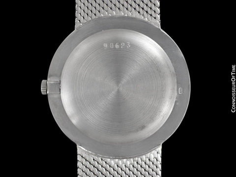 1970's Audemars Piguet Vintage Mens Thin Dress Bracelet Watch - 18K White Gold