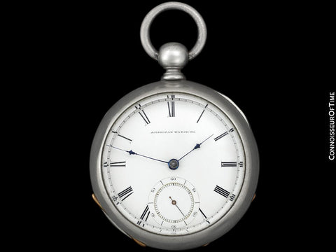 1863 Waltham P.S. Bartlett Civil War 18 size Pocket Watch - Same Brand Given to Abraham Lincoln at Gettysburg