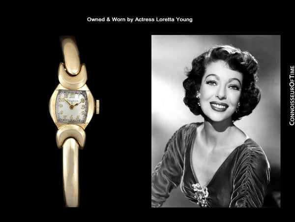 1953 Bulova Vintage Ladies 10K Gold Filled Watch - Owned & Worn by Actress Loretta Young