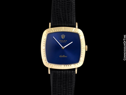 1976 Rolex Cellini Vintage Mens Handwound TV Watch, Ref. 4084 - 18K Gold